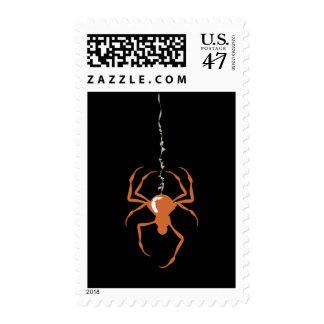Spider on Strand (Orange) Postage Stamps