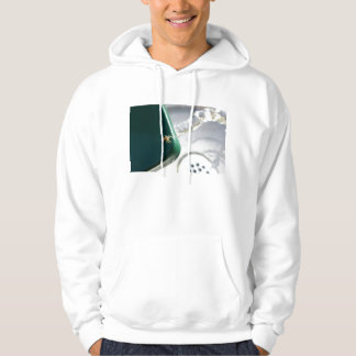 Spider on water foutain hooded pullover