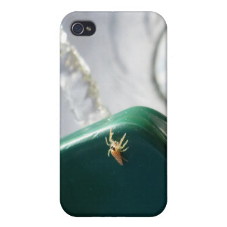 Spider on water foutain iPhone 4 cover