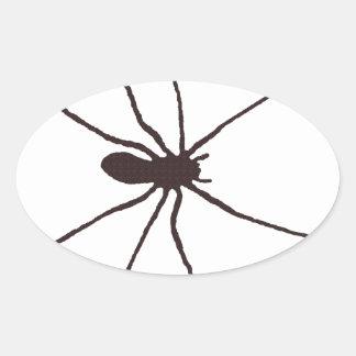 Spider Oval Sticker