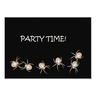 Spider Party Time. Invitation