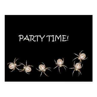 Spider Party Time Postcard