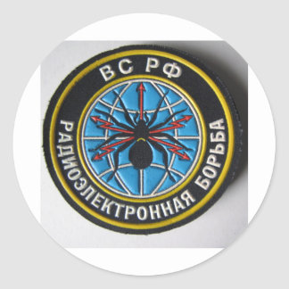 spider patch.russian secret service classic round sticker