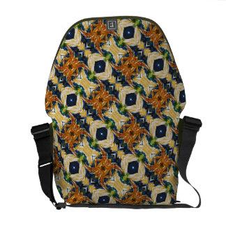 Spider Pattern Messenger Bag