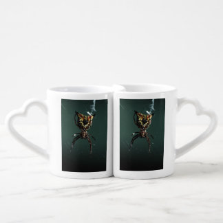 spider couples' coffee mug set