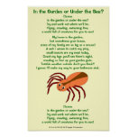 Spider poem In the Garden or Under the Sea? Print