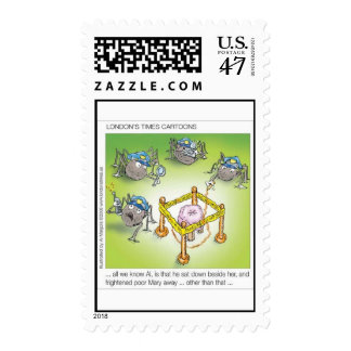Spider Police Funny Postage Stamps (Set Of 12)