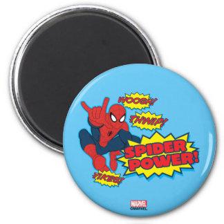 Spider Power Spider-Man Graphic 2 Inch Round Magnet