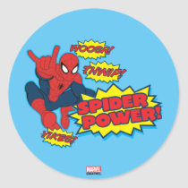 Spider Power Spider-Man Graphic Classic Round Sticker