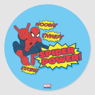 Spider Power Spider-Man Graphic Classic Round Sticker