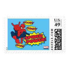 Spider Power Spider-man Graphic Postage at Zazzle