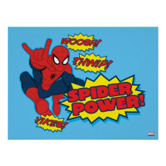 Spider Power Spider-Man Graphic Poster