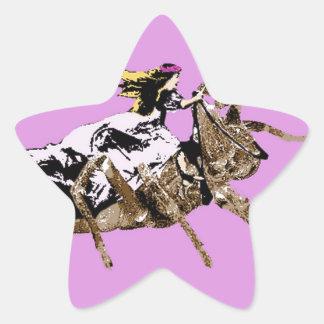 spider princess star sticker