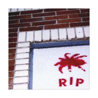 spider r.i.p. stencil canvas print