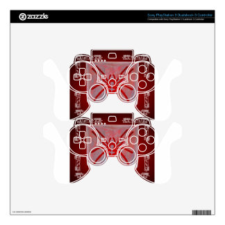 SPIDER RED CUSTOMIZABLE PRODUCTS PS3 CONTROLLER DECALS