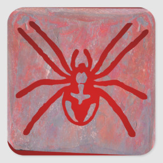 SPIDER RED CUSTOMIZABLE PRODUCTS SQUARE STICKER
