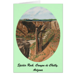 Spider Rock, Canyon de Chelly, Arizona Greeting Card