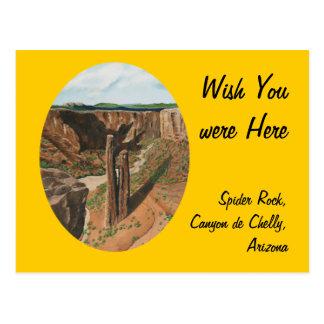 Spider Rock, Canyon de Chelly, Arizona Post Cards