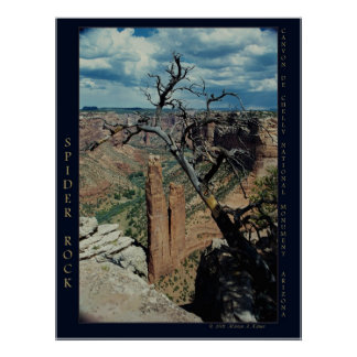 """""""Spider Rock, Canyon de Chelly"""" nature photograph Poster"""