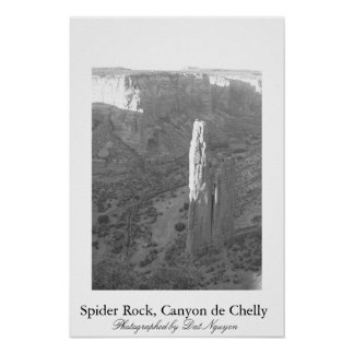 Spider Rock, Canyon de Chelly Poster