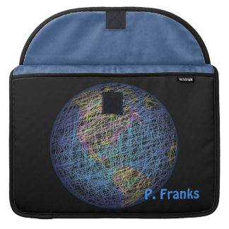 Spider's Dream – Earth in Azure Blue Sleeves For MacBook Pro