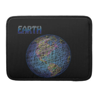 Spider's Dream – Earth in Azure Blue Sleeves For MacBooks