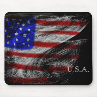 Spider's Dream – Stars and Stripes American Flag Mouse Pad