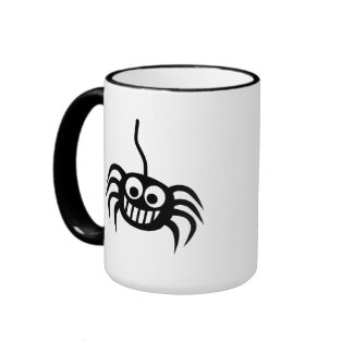 Spider silk ringer coffee mug