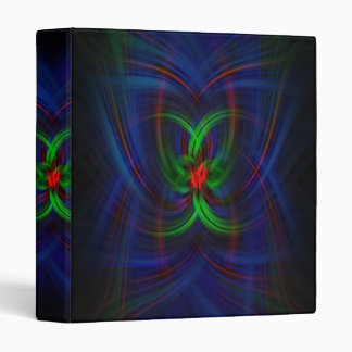 Spider Silks Abstract Art Three Ring Binder