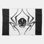 Spider skull tattoo towel