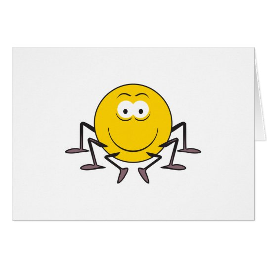 Spider  Smiley Face Card
