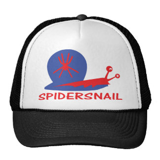 spider snail icon mesh hats