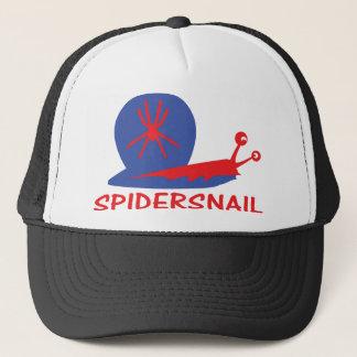 spider snail icon trucker hat