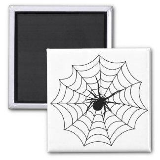 Spider Spidernet Insects Arachnida Black Art Magnets