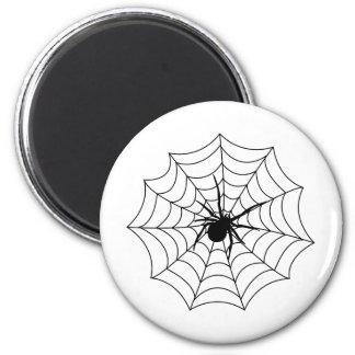 Spider Spidernet Insects Arachnida Black Art Fridge Magnet