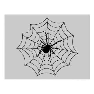 Spider Spidernet Insects Arachnida Black Art Postcard