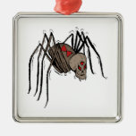 Spider Square Metal Christmas Ornament