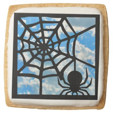 Halloween Themed Spider Square Shortbread Cookie