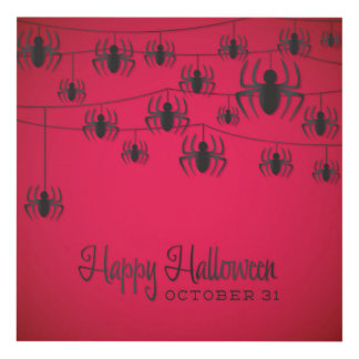 Spider string panel wall art