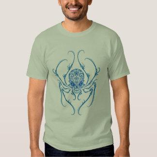 Spider Sugar Skull (blue) T Shirt