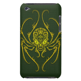 Spider Sugar Skull - green iPod Touch Cover