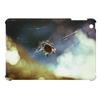 Spider Themed, A Spider Weaving Its Web To Catch T iPad Mini Covers