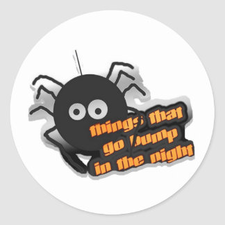 Spider Things that go Bump Stickers