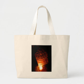 Spider Tombstone Large Tote Bag