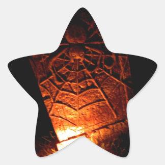 Spider Tombstone Star Sticker