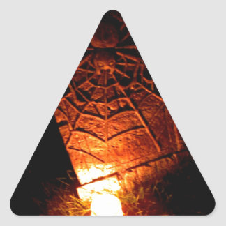 Spider Tombstone Triangle Sticker