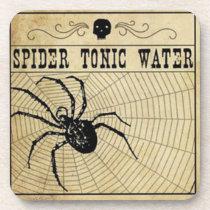 Spider Tonic Water Halloween Coaster