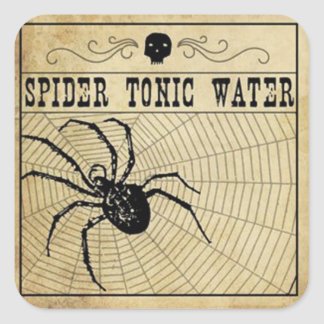 Spider Tonic Water Halloween Sticker
