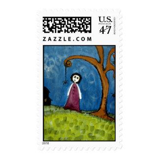 Spider Tree Stamp