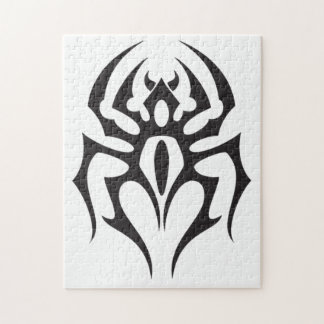Spider Tribal Tattoo Puzzle
